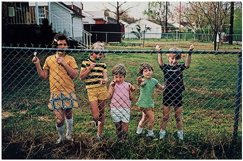 untitled [children at fence] by william eggleston